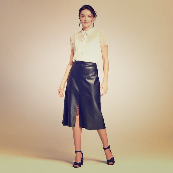 Who What Wear Dresses & Skirts - Faux Leather Midi Skirt